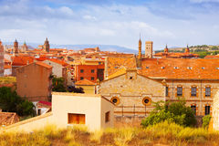 View of Teruel from hill Royalty Free Stock Images