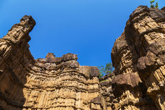 View texture of Pha Chau big canyon in chiang mai, thailand royalty free stock photography