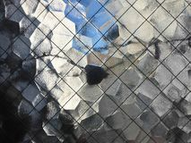 View Through Textured Glass Window Stock Image