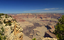 A view of th rocky ledges at the South Rim of the Grand Canyon, Arizona Stock Photos