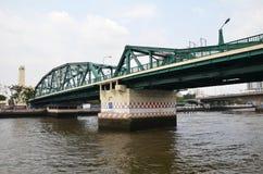 View of Thai river bridge, Bangkok Royalty Free Stock Image