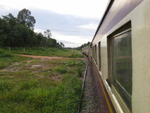 View from Thai train. Hadyai, Songkhla,Thailand Stock Photo