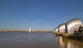 A view of the thames barrier Royalty Free Stock Photo