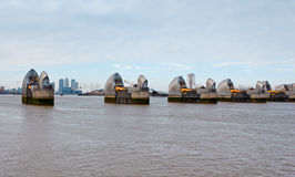 View of the Thames Barrier in London Royalty Free Stock Image