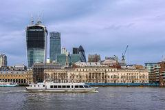 View of Thames embankment Stock Photos