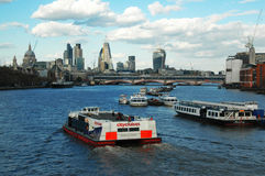 View on Thames, London Stock Photos