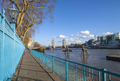 View from the Thames Path Royalty Free Stock Photo