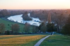A view of the Thames from Richmond Hill stock photos