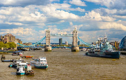 View of the Thames River in London Royalty Free Stock Image