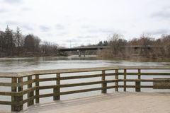 View of the Thames River, taken along a walking path. London, On. Canada Stock Photography
