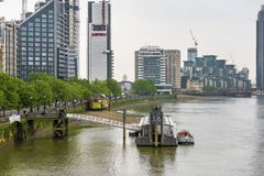 View on the Thames river Royalty Free Stock Photography