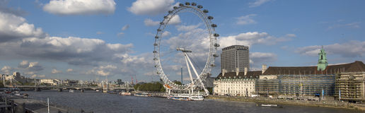 View on the Thames South Bank Royalty Free Stock Photos