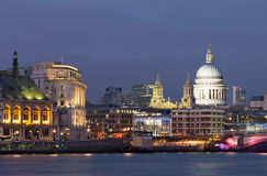 Evening view of the Thames and St Paul's Cathedral. London Stock Image