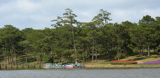 View of Than Tho lake in Dalat Stock Images