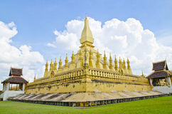A View of Thatluang. Thatluang is the symbol of Vientiane, Laos Stock Photos