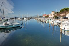 Thau basin - Bouzigues - Herault - France stock photos