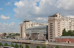 View of the theater of Estrada and Bersenevskaya embankment Stock Image