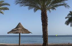 View on theRed sea from North beach, Eilat, Israel Stock Photo