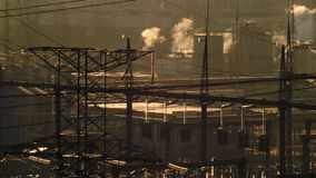 view of the thermal power plant  stock video