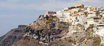 Thira The Capital of Santorini stock images