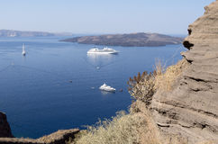 View of Thira at Santorini, Royalty Free Stock Image
