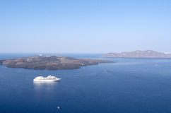 View of Thira. Royalty Free Stock Images