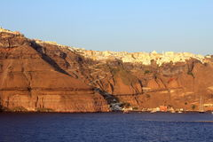 View Of Thira At Sunset Royalty Free Stock Image