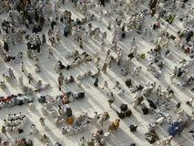 View from third floor of Haram Mosque. Where pilgrims wait for praying time royalty free stock image