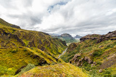 View on a Thorsmork zone in Iceland Stock Image