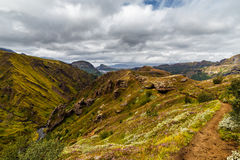 View on a Thorsmork zone in Iceland Royalty Free Stock Photos