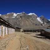 View from Thorung La high camp Royalty Free Stock Photos