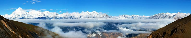 View from thorung la pass Stock Photo