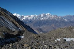 View from Thorung La Pass, Nepal Royalty Free Stock Photography