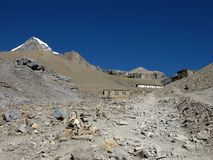 View Of The Thorung Phedi High Camp Stock Photos