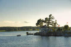 A view at Thousand Islands Stock Photography