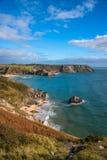 View of Three Cliffs Bay Stock Photo