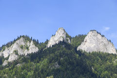 View on Three Crowns Massif in Pieniny Mountains , Poland Royalty Free Stock Photo