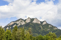 View on Three Crowns Massif in Pieniny Mountains , Poland Stock Photos