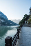 View of Three Gorges Tribe Scenic Spot along the Yangtze River; located Royalty Free Stock Photography