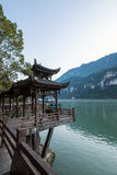 View of Three Gorges Tribe Scenic Spot along the Yangtze River; located Royalty Free Stock Image
