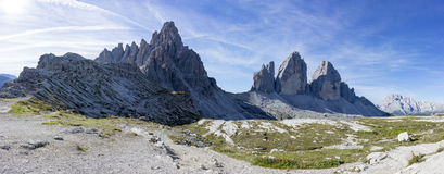 The view of the three peaks of Lavaredo Royalty Free Stock Images