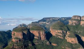 View of the Three Rondavels at the Blyde River Canyon on the Panorama Route, Mpumalanga, South Africa stock photography