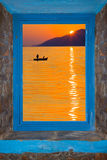 Sunset on Saronic Gulf Stock Images