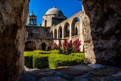 Free View Through A Window In A Thick Rock Wall At Spanish Mission San Jose Royalty Free Stock Image - 56243766