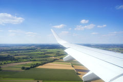 View thru an airplane window Royalty Free Stock Image