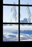 View thru paned window Stock Photography