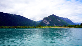 View of Thun Lake Interlaken Royalty Free Stock Photos