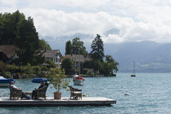 View of Thun lake Royalty Free Stock Images