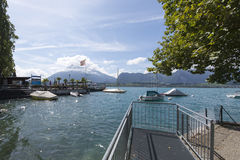 View of Thun lake Stock Images