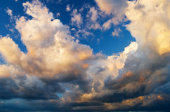 View of thunderstorm clouds. Royalty Free Stock Images
